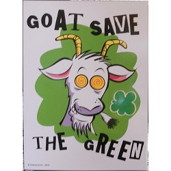 Carte postale Goat save the Green