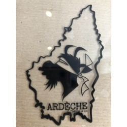 "Ardéchica sticker ""Le 7"" noir transparent"
